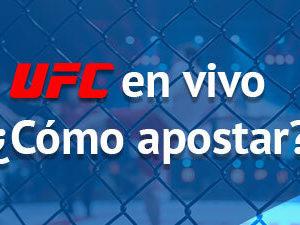 ¿Cómo apostar en UFC en vivo?