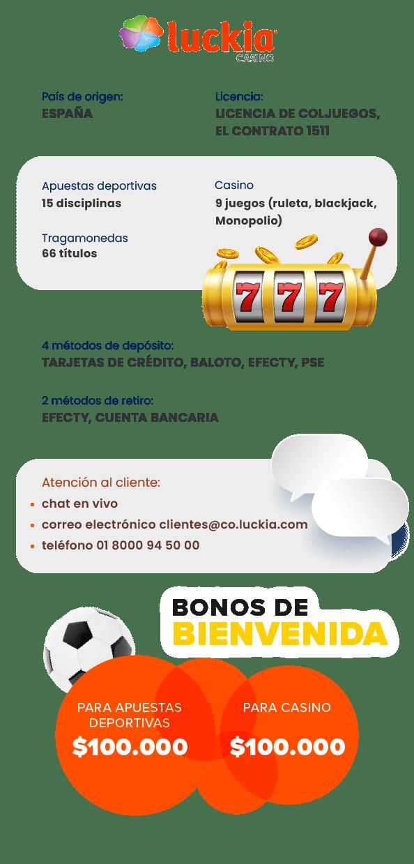 luckia bono bienvenida